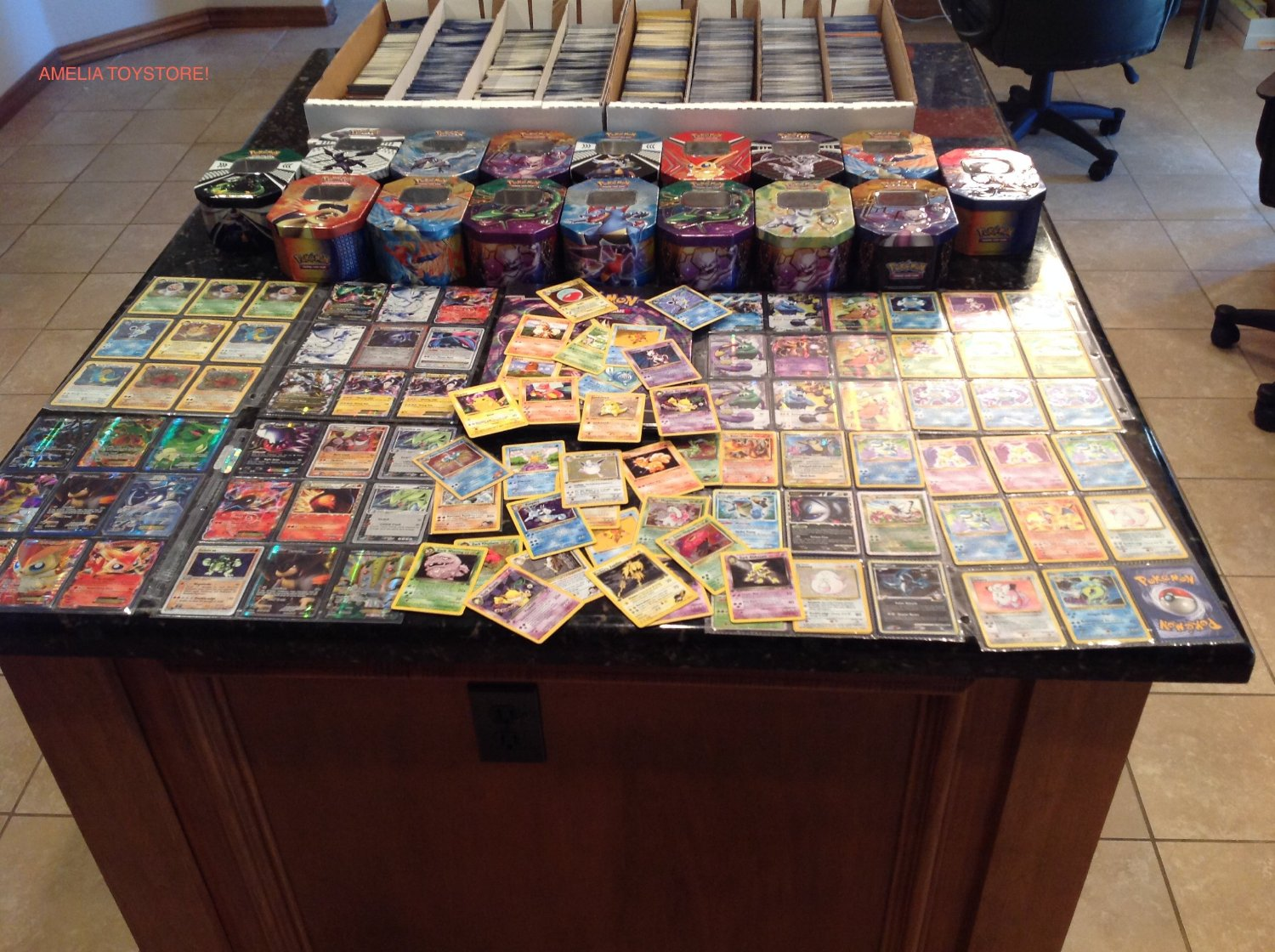 150 Assorted Pokemon Cards with Collectible Tin by POKEMONUSA