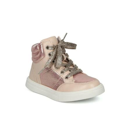 New Girls Little Wild Diva Andy-13 Glitter Panel High Top Sneaker ()