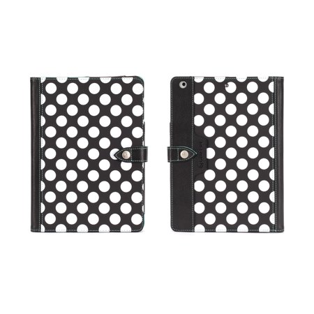 Griffin Black Polka Dots w/ Teal Interior Back Bay Folio for iPad Air, Carry your iPad like a notebook