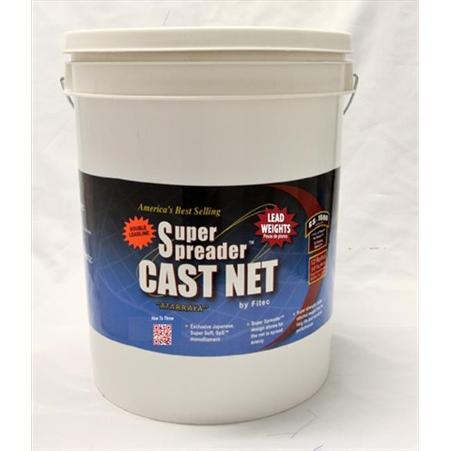 Fitec 10780 8 ft. GS1500 Ultra Spreader Cast Net 0.63 in. Mesh, Clear Lead, 1.5 lbs.
