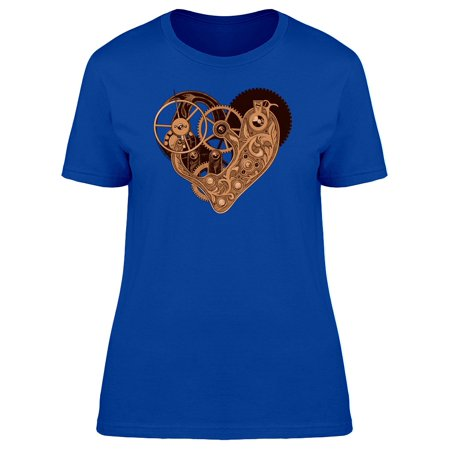 Mechanical Steampunk Heart Tee Women's -Image by Shutterstock - Naked Steampunk Women