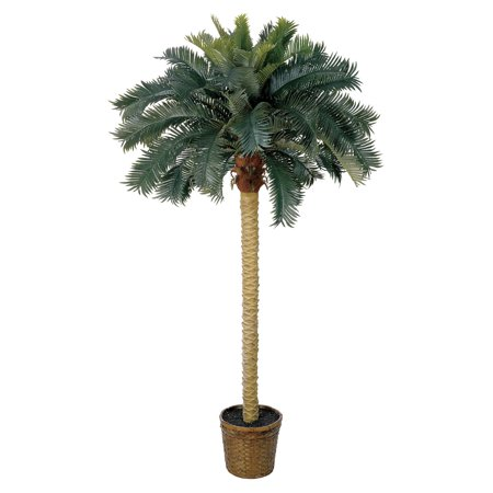 Palm Tree Rocker (Nearly Natural 6 ft. Sago Palm Silk Tree)
