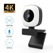 Best Computer Camera For Skypes - Webcam with Microphone and Ring Light, 4K Webcam Review