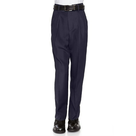 RGM 100% Dacron, Flat Front, Boys Slim Dress Slacks