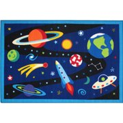 """Fun Rugs Olive Kids Out of this World 19"""" x 29"""" Rug"""