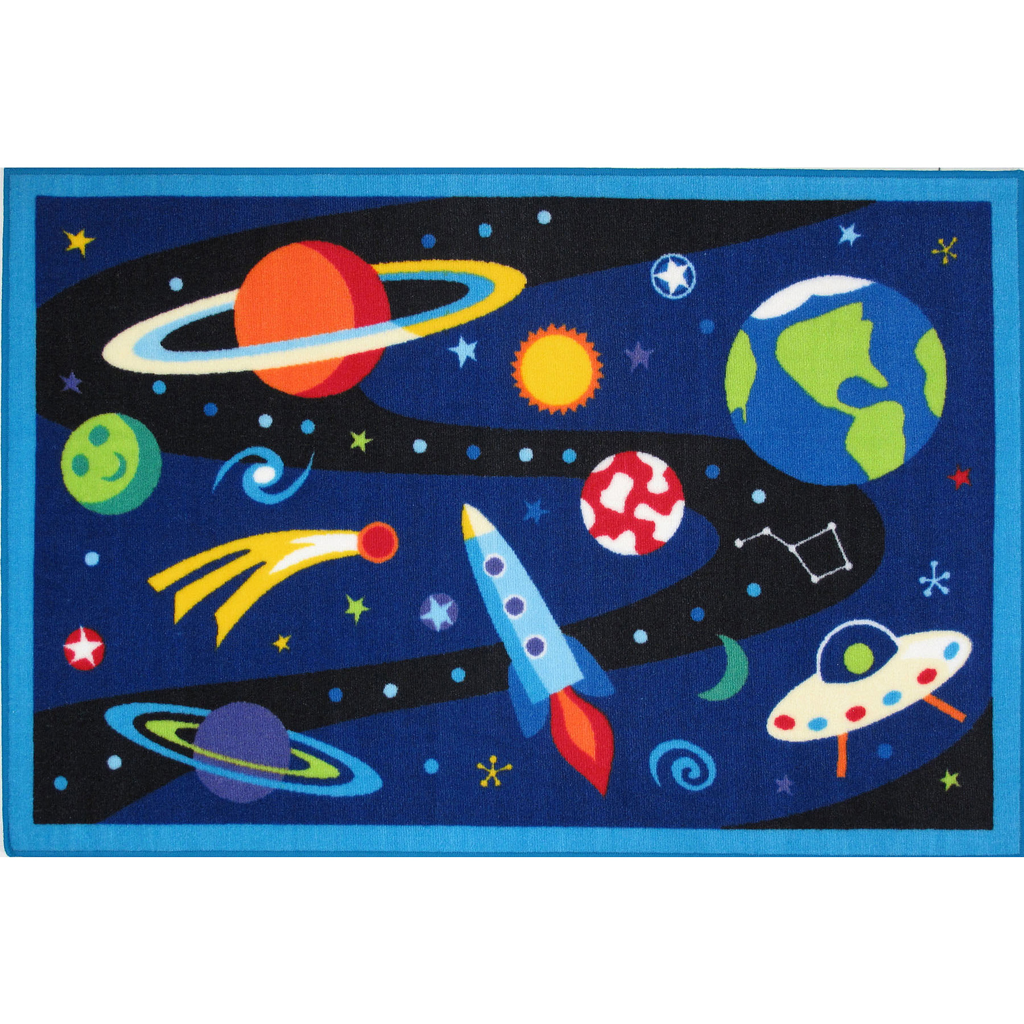 Fun Rugs Olive Kids Out of this World Rug
