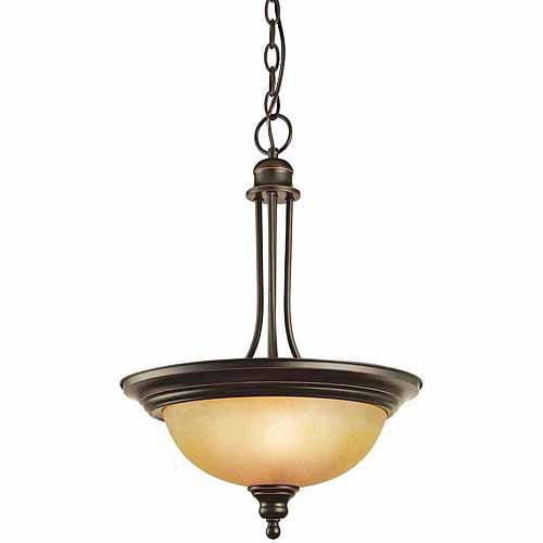 Design House 504266 Bristol 2-Light Pendant, Oil Rubbed Bronze Finish