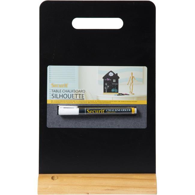 Securit FBT-CARRY Handle Table Chalkboard & Marker, Black