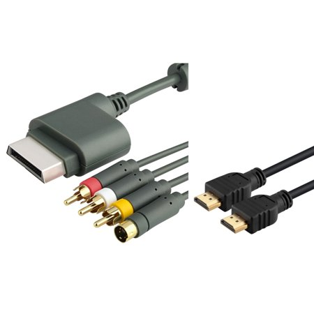 Belkin 6ft Composite Av Cable - Insten 6Ft HDMI Cable+AV Composite S-Video Cable for Xbox 360