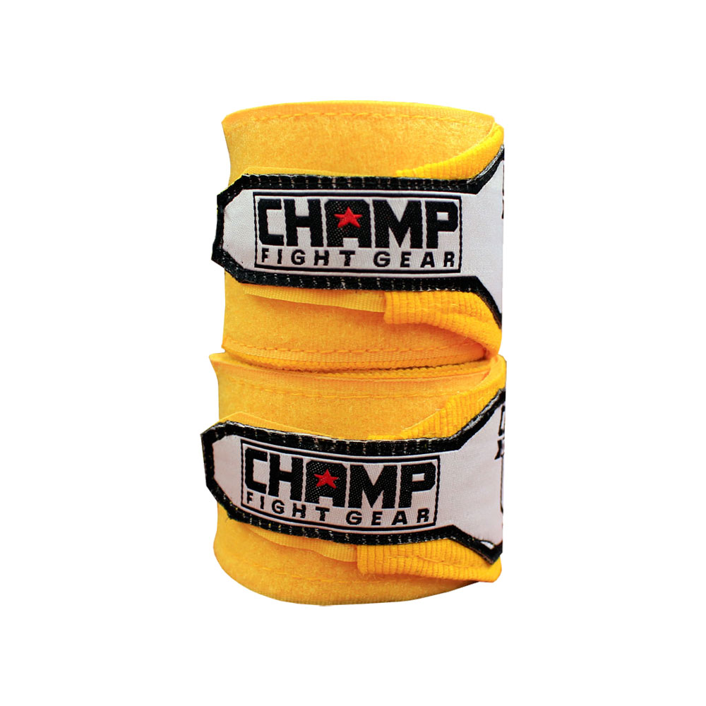 """180"""" Champ Boxing Hand Wraps Elasticated MMA Fist Protector Bandages Mitts"""