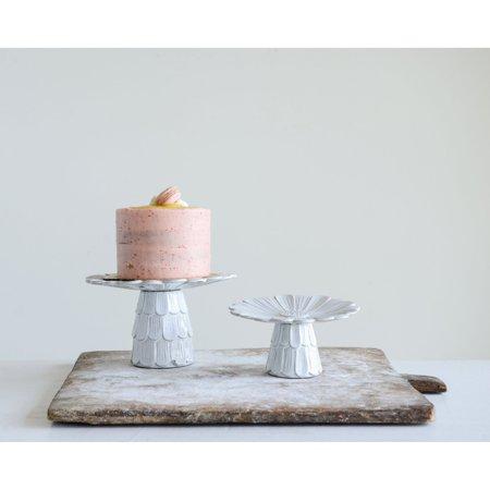 3R Studios White Terracotta Flower Cake -