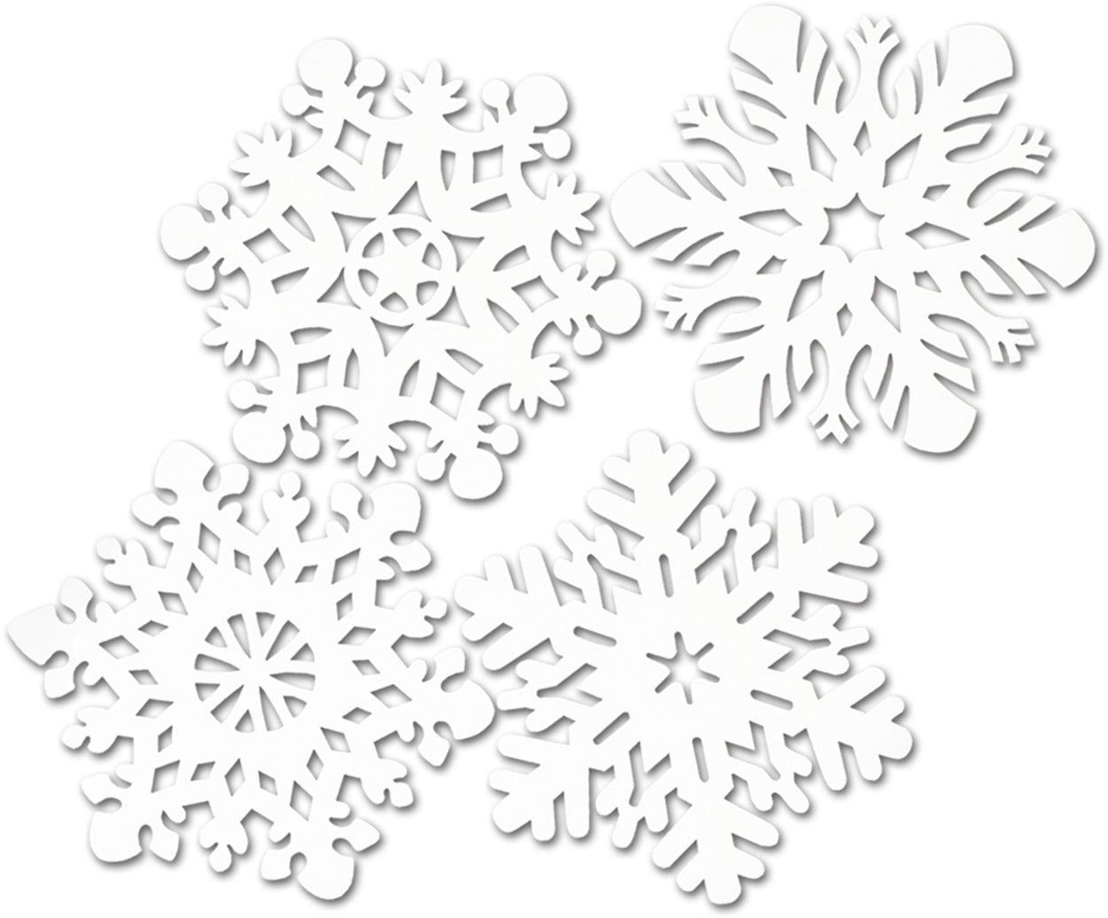 Set Of 4 Snowflake Cutouts Christmas Holiday Party Decorations 14-14.5
