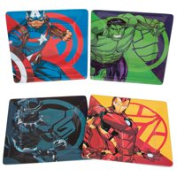 Marvel Avengers Plate Set of 4 - Black Panther, Captain America, Iron Man and Hulk