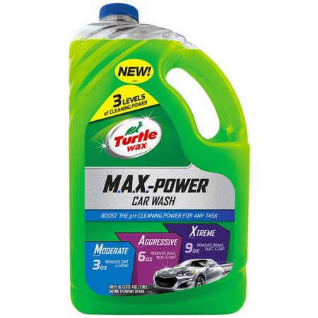Turtle Wax Max-Power Car Wash, 100 oz (Car Soap)