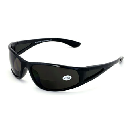 Mens Bi-Focal sunglasses Nearly Invisible Line Outdoor Readers Reading Glasses (Sunglasses Readers For Men)