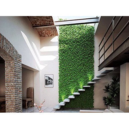 "HappyD Artificial Milan Boxwood Topiary Hedge Plant Privacy Fence Screen Greenery Panels Suitable for Both Outdoor or Indoor, garden or backyard Wall and home decor 40""L x 40""H (2 piece) by"