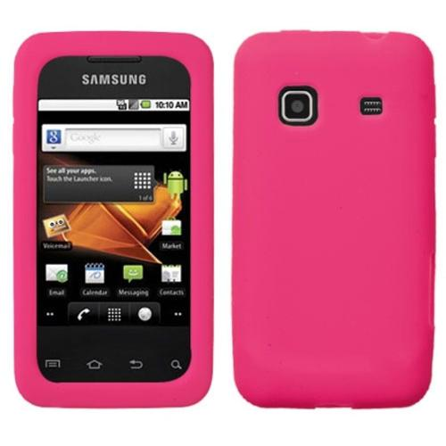 Insten Solid Skin Case (Hot Pink) for SAMSUNG: M820 (Galaxy Prevail)