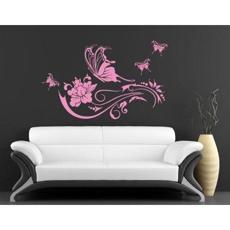 Butterfly Vine Wall Decal wall decal sticker mural vinyl art home deco