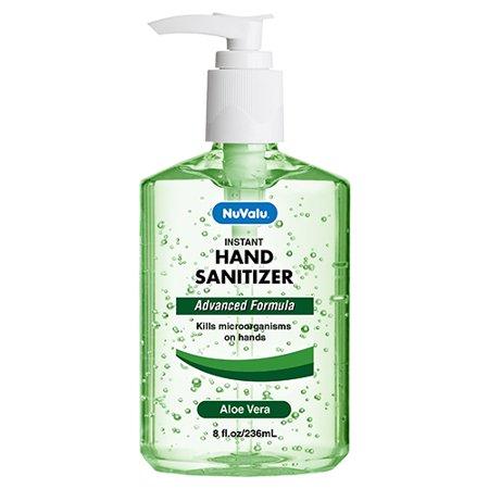 New 380250  Nuvalu Hand Sanitizer 8 Oz W / Pump Aloe Vera (12-Pack) Cough Meds Cheap Wholesale Discount Bulk Pharmacy Cough Meds Firesale