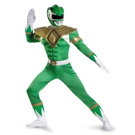 MMPR - Green Ranger Classic Muscle Adult Costume for $<!---->