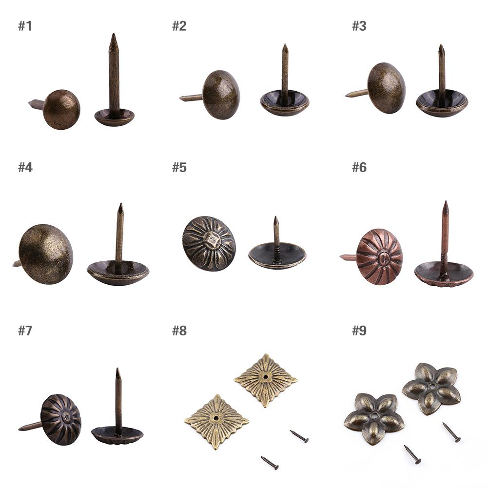 Nails, Screws & Fixings 100X Decorative Sofa Door Iron Studs Tacks Pins Hardware Antique Upholstery Nail