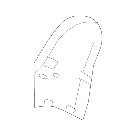 Genuine OE Land-Rover Hinge Cover LR035245