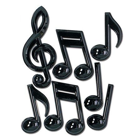 Plastic Musical Notes - Musical Note Paper