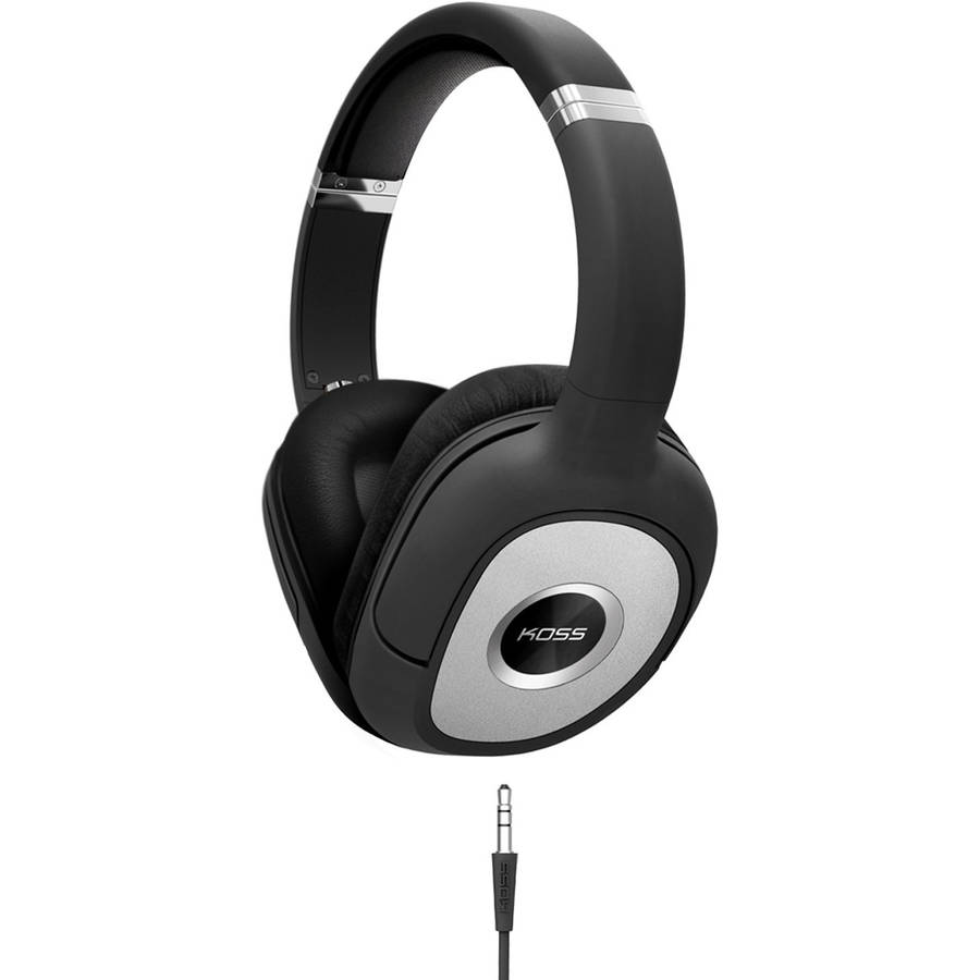 Koss SP540 Full Size Dynamic Headphones, Black/Silver