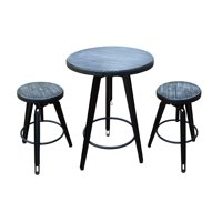 Christopher Knight Home Isla Antique Finish Firwood Bar Table Set by