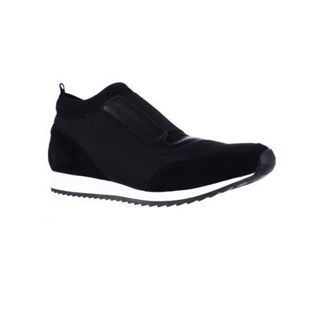(Womens Aerosoles Pantheon Laceless Slip On Fashion Sneakers, Black)