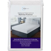 Mainstays Fitted Waterproof Fitted Soft Knit Mattress Protector