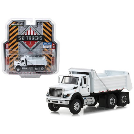 2018 International WorkStar Construction Dump Truck White S.D. Trucks Series 4 1/64 Diecast Model by (International Navistar Trucks)