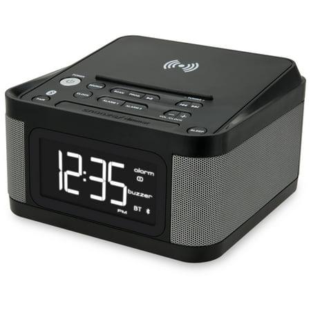 - iLive Platinum Bluetooth Wireless Clock Radio with Charging Pad, ICQ988B