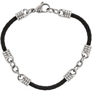 Primal Steel Stainless Steel Black IP-Plated 9 inch Bracelet
