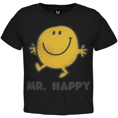 Mr  Men   Mr  Happy Stroll Brown Juvy T Shirt