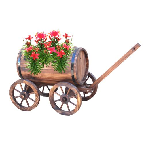 Large Barrel Wagon Planter