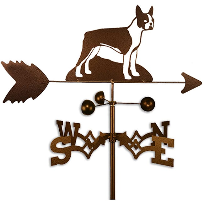 SWEN Products Inc Handmade Boston Terrier Dog Copper Weathervane by Overstock