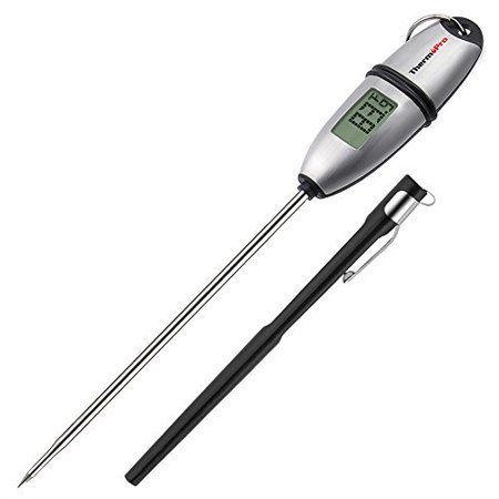 ThermoPro TP-02S 5 Seconds Instant Read Meat Thermometer Digital Cooking Food Thermometer with Long Probe for Grill Candy Kitchen BBQ Smoker