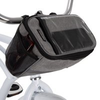 Huffy Handlebar Cooler Bike Bag with Smartphone Pocket, Woven Gray