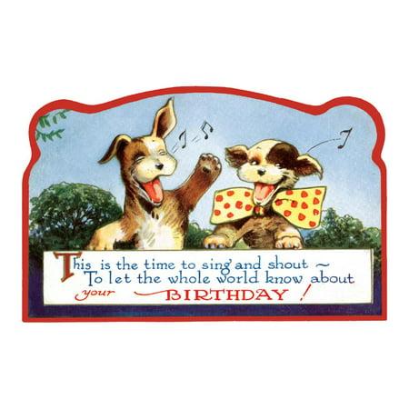 Birthday Singing Dogs