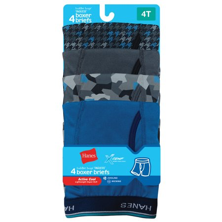 Hanes Boys' X-Temp Active Cool Boxer Brief, 5 Pack