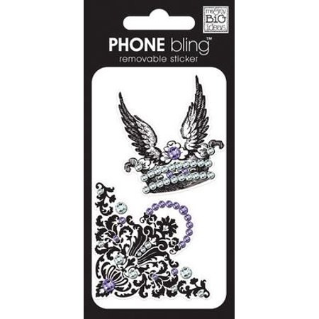 me & my BIG ideas Phone Bling Removable Cell Phone Embellishment, Crown and Feathers