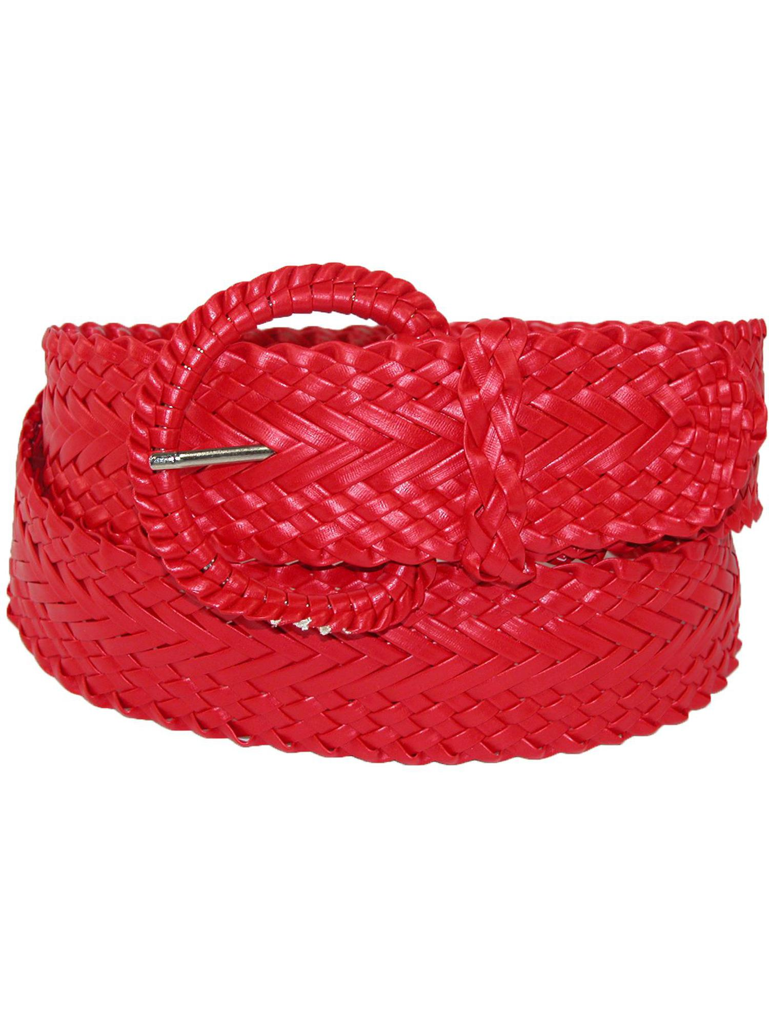 Small CTM/® Womens 2 Inch Wide Adjustable Braided Belt Black