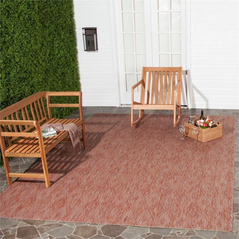 "Safavieh Courtyard 2'3"" X 8' Power Loomed Rug in Red and Red - image 2 of 8"
