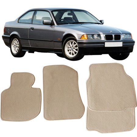 Fits 92-98 BMW E36 3-Series Floor Mats Carpet Front & Rear Beige 4PC - Nylon Bmw 325i Floor Mats