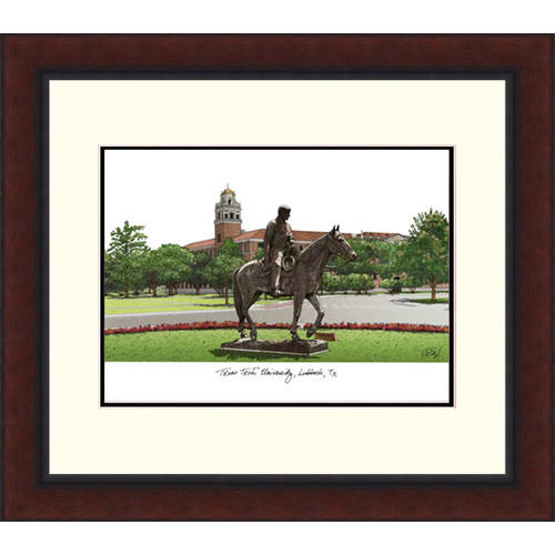 Texas Tech University Legacy Alumnus Framed Lithograph