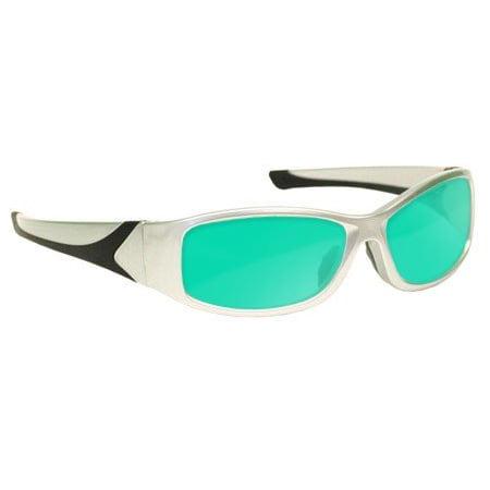 Laser Safety Eyewear - Hene Alignment (Hea) Filter In Silver Plastic Wrap-Around Frame (Laser Alignment Training)