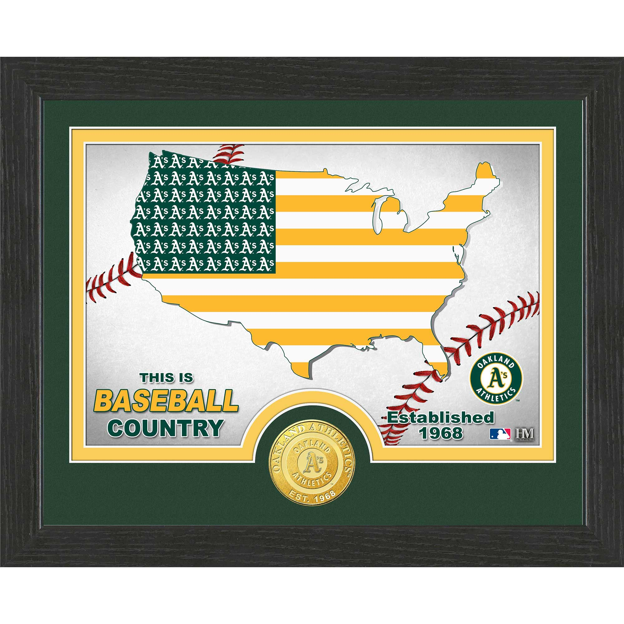 "Oakland Athletics Highland Mint 9"" x 11"" Country Photomint - No Size"