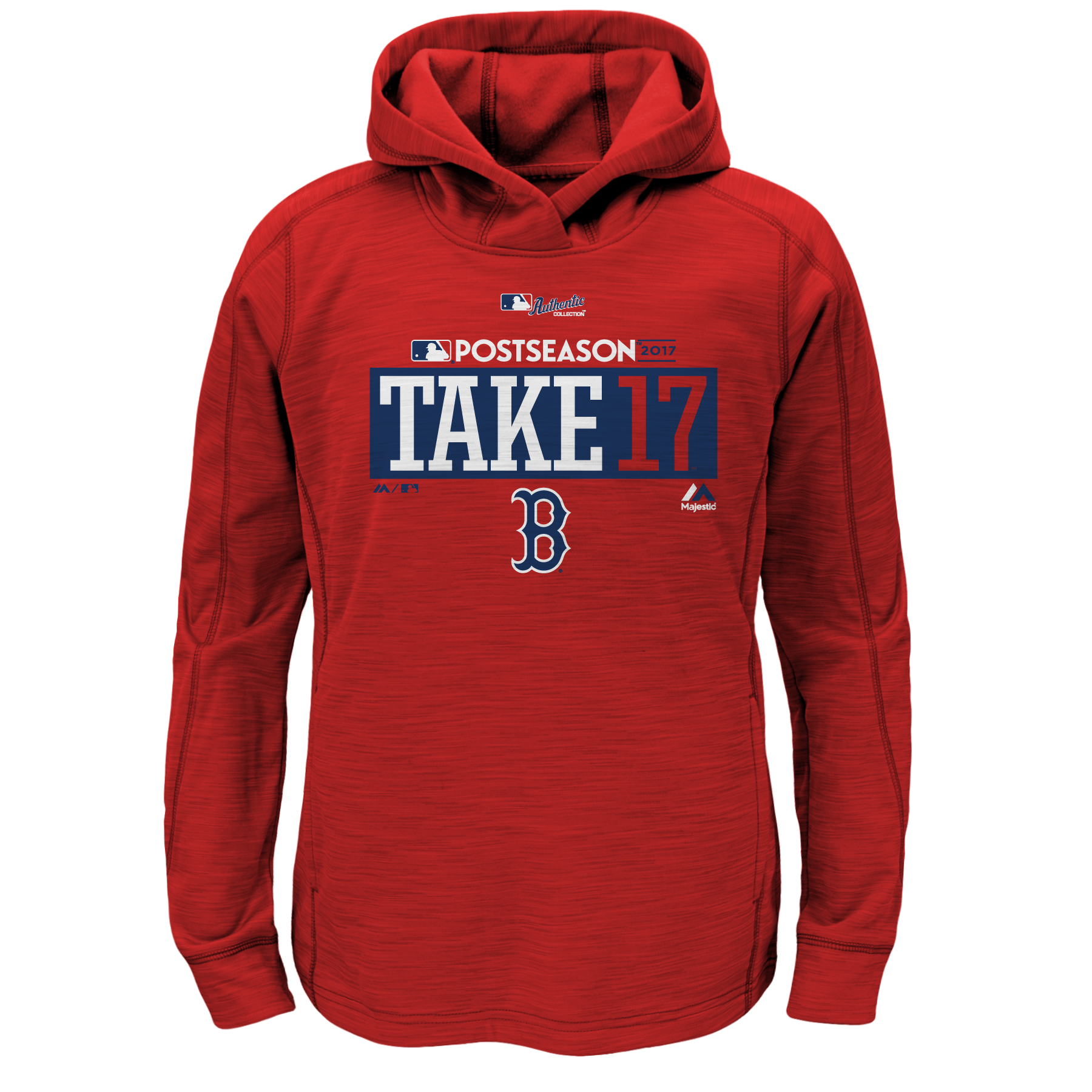 Boston Red Sox Majestic Youth 2017 Postseason Authentic Collection Pullover Hoodie - Scarlet