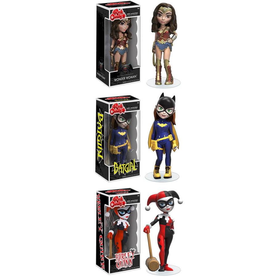 Funko Rock Candy Collectors Set Featuring Batman Vs Superman Wonder Woman, Modern... by Funko